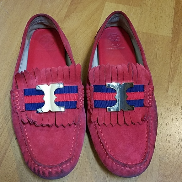 3abf1285b9 Tory Burch Gemini Suede Driving Shoes